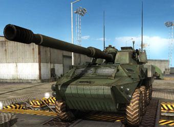 """仿制的法国响尾蛇防空导弹系统的载车,即法国p4r型4x4""""电传动""""装甲车"""